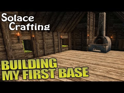 BUILDING MY FIRST BASE | Solace Crafting | Let's Play Multiplayer Gameplay | S01E02