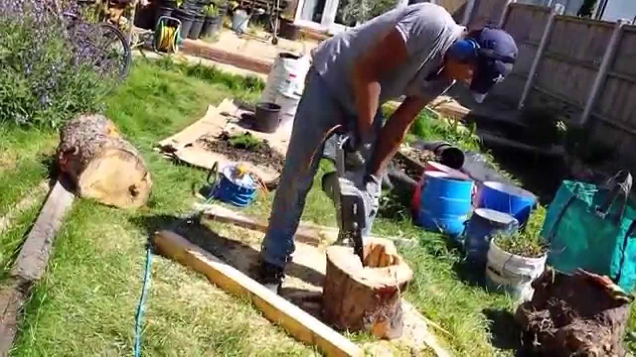 Exceptionnel DIY Planter From Tree Trunk   YouTube
