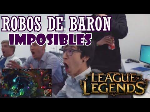 10 ROBOS DE BARON IMPOSIBLES League of legends