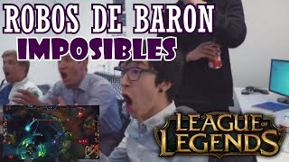 10 ROBOS DE BARON IMPOSIBLES League of legends