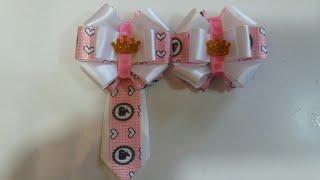 Kit laço e gravata Barbie