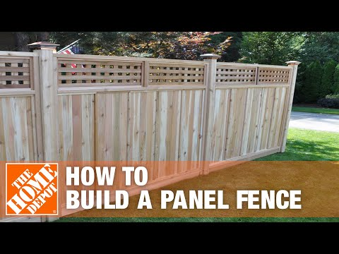 How to Install a Panel Fence | The Home Depot