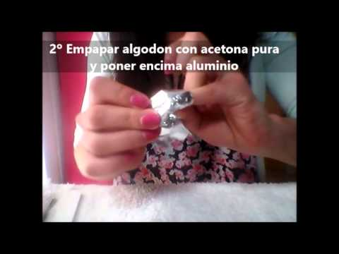 Como quitar esmalte permanente en casa muy fácil - YouTube