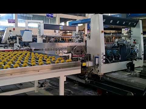 float glass cutting and edging automatic production line at hopson glass group company