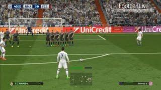 PES 2017 | Real Madrid vs Bayern Munich | Free Kick Goal Ronaldo | UEFA Champions League