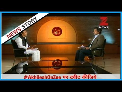 Exclusive interview of U.P CM 'Akhilesh Yadav' by Sudhir Chaudhary