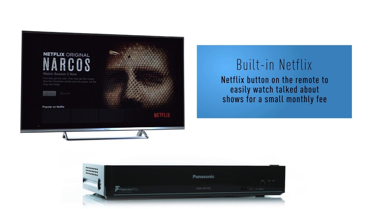 Panasonic HWT250 Blu Ray Player Freeview Play Recorder