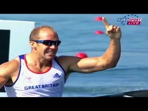 2008 Olympic Canoeing Beijing Men's K-1 1000 m Final. (16:9)