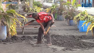 Volcanic ash turns to 'concrete' in Georgetown