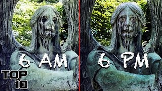 Top 10 Scary Statues Caught Moving - Part 2