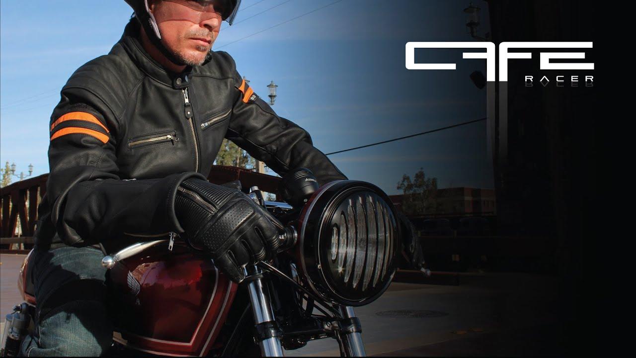 Joe rocket leather motorcycle gloves - Cafe Racer Mens Leather Gloves Joe Rocket Gear