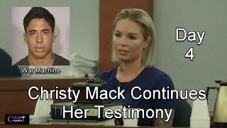 War Machine Trial Day 4 Part 2 (Christy Mack Continues to Testify) 03/09/17