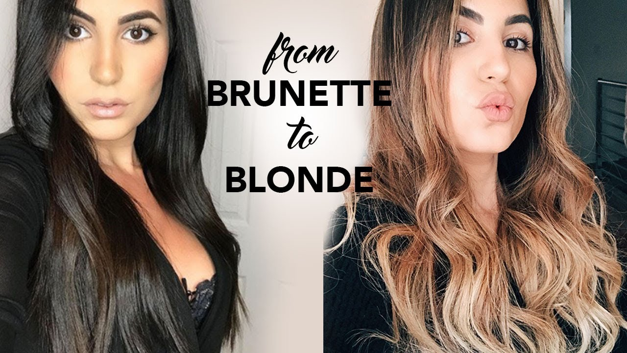 Balayage Painted Hair Transformation BEFORE \u0026 AFTER
