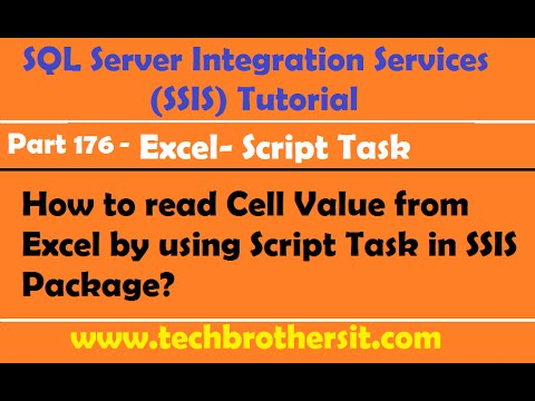 How to read Cell Value from Excel by using Script Task in SSIS Package-P176