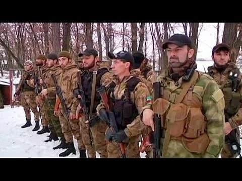 Ukraine: Chechen 'death unit' and rebel fighters join forces, Donetsk