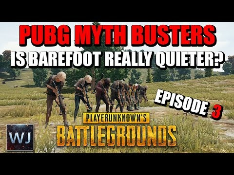 PUBG MYTH BUSTERS #3: Is it quieter to run barefoot compared to shoes? Hit yourself with crossbow?