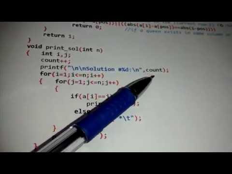 N queens problem PROGRAM using back-tracking (VTU ADA lab)