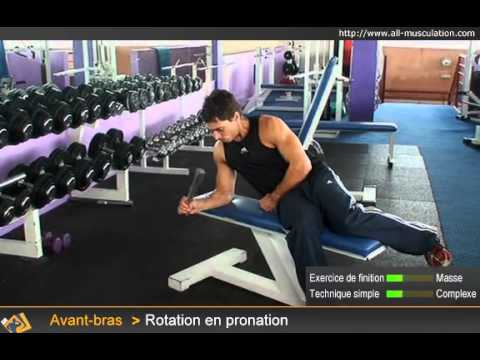Exercice pour les avant-bras   rotation poignets pronation - YouTube 9695bca3a5e
