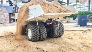RC truck overload! Too much weight on the R/C dumper! Slow Motion!
