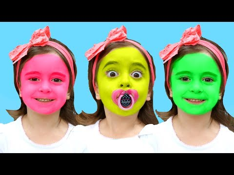 Thumbnail: Learn colors with JOHNY JOHNY Yes Papa Nursery Rhymes / Color FACE