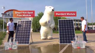 AE Smart Hot-Spot Free module VS standard photovoltaic module