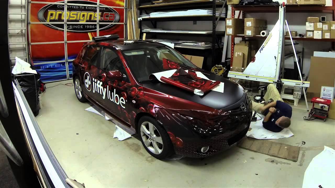 Mazda Speed 3 >> Mazda 3 Hatchback Full 3M Wrap by Prosigns.ca - YouTube