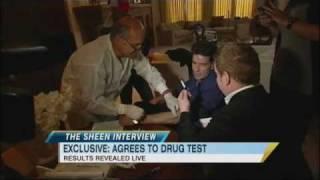 Charlie Sheen Drug Test Results Revealed Live on