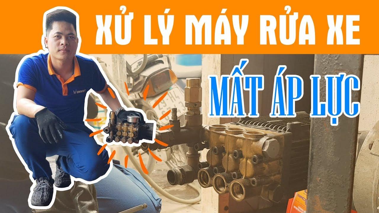 Hướng dẫn tháo lắp đầu bơm máy rửa xe cao áp, xử lý sự cố máy rửa xe mất áp lực - univiet.com.vn