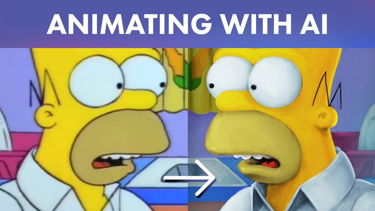 AI Animation Tutorial | The Simpsons with EbSynth