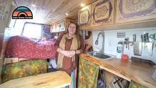 She Built A 2013 Sprinter Camper Van To Live On The Road & Run Her Businesses