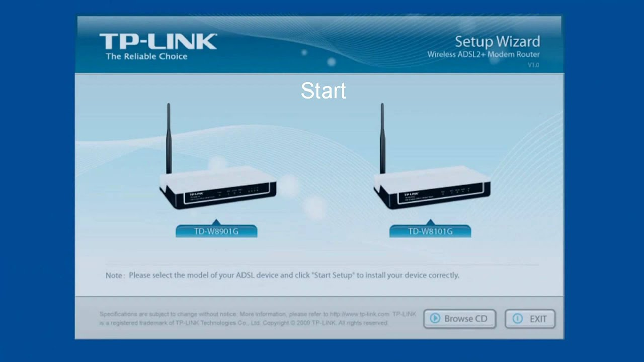 Setting up a home network within 5 minutes - TP-Link TD-W8901G - YouTube
