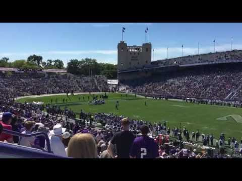 Northwestern University Wildcats football touchdown versus Western Michigan - Sept 3, 2016