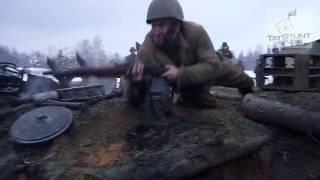Солдат в окопе (шутка на съемочной площадке. Фильм