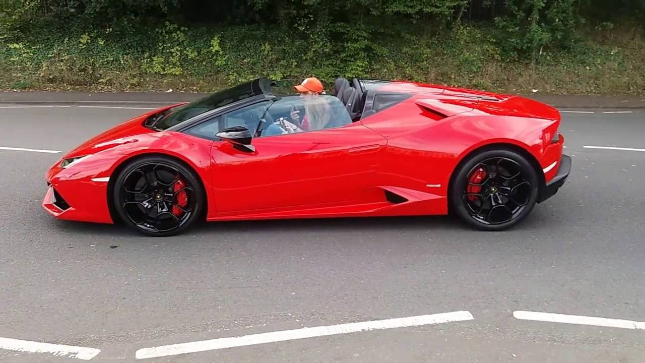Brand New Red Lamborghini Huracan Driving Video 1080p Attractive