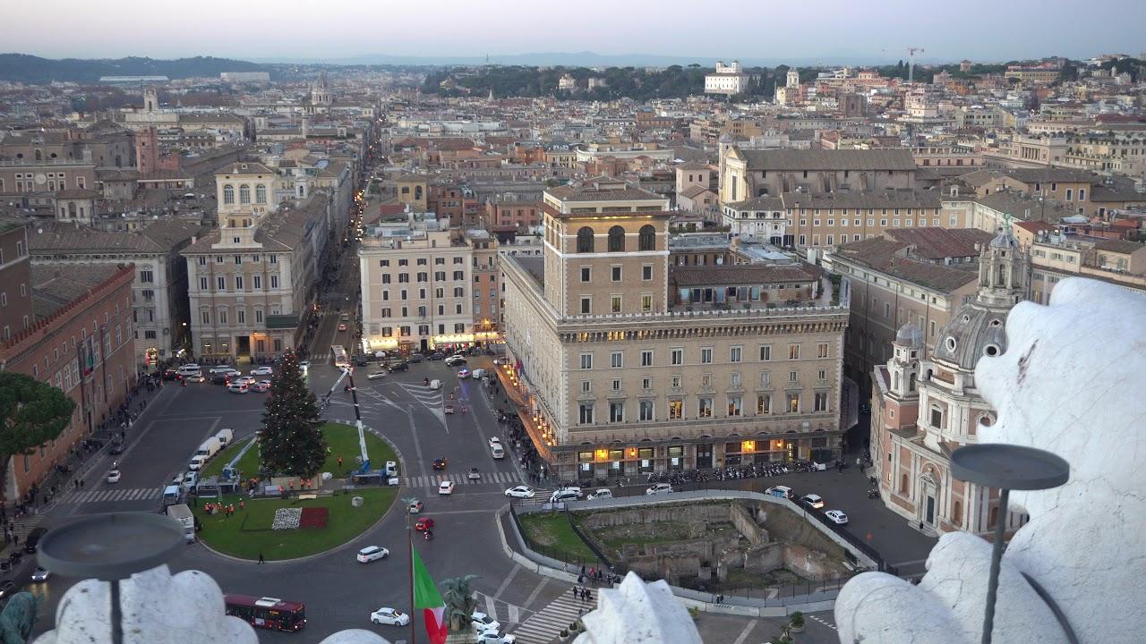 2018 5 Dicembre Panorama Di Roma A 180 Gradi Dalla Terrazza Delle