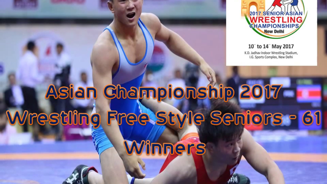 wrestling asian championship 2017 - free style seniors 61 - winners