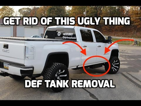 Duramax Def Delete >> How To Remove Def Tank From Lml Duramax Youtube