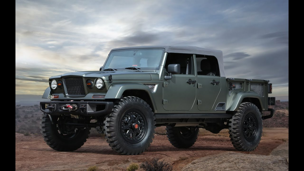 2016 Jeep Truck >> 2016 Jeep Crew Chief 715 Semi Military Pickup Truck Jeep Fc150 Concept