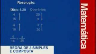 Matemática - Regras de Três Simples e Composta - Parte 1 - 2 thumbnail