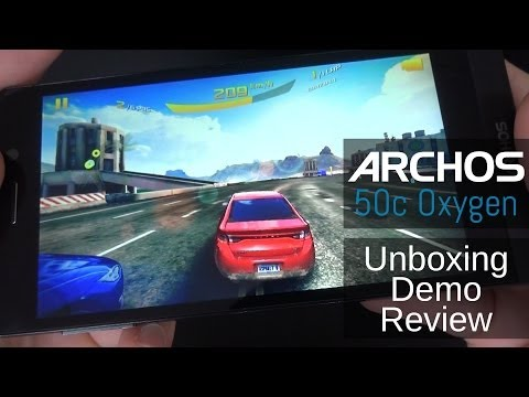 ARCHOS 50c Oxygen - Unboxing, Review and Demo