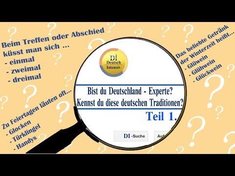 Deutschland-Quiz №1: Traditionen. Знаешь ли ты немецкие обычаи? Часть 1.