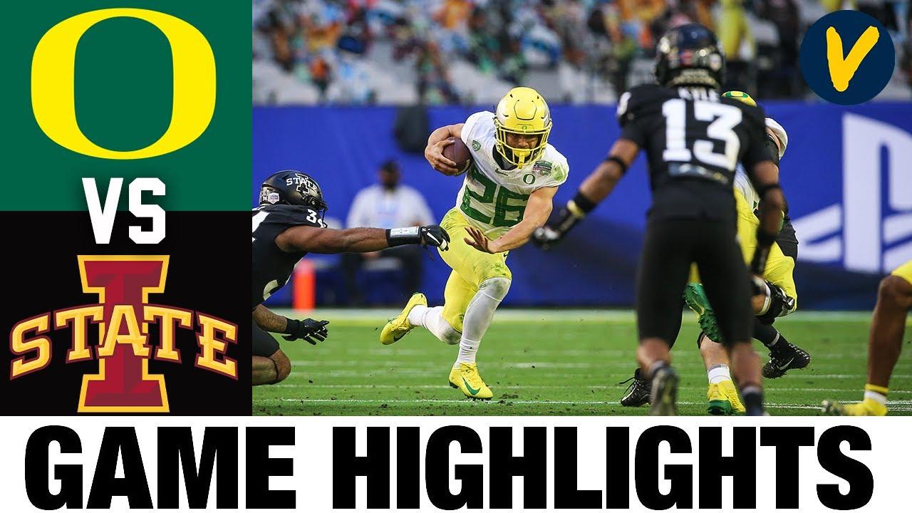 #25 Oregon vs #10 Iowa State Highlights | 2021 Fiesta Bowl Highlights| College Football Highlights