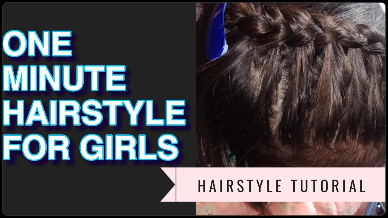 One Minute Casual Hair Style For Girls Stylehub English Youtube