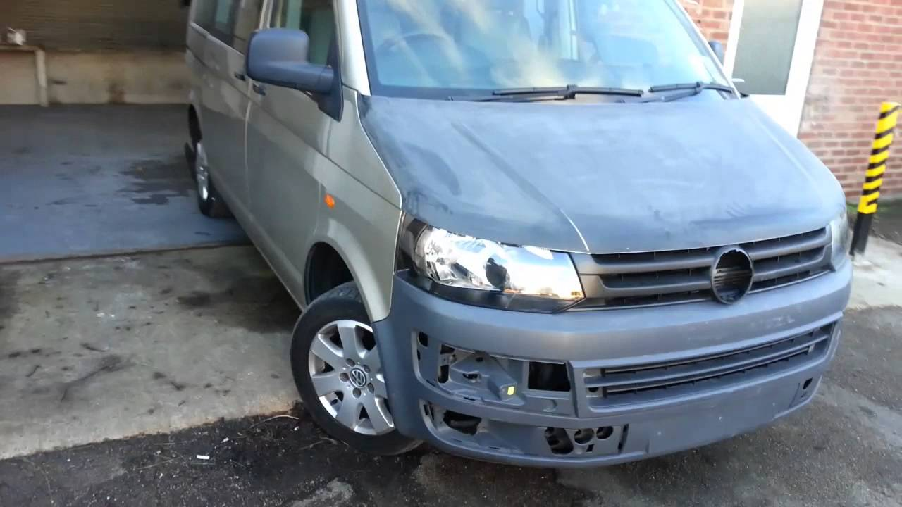 How to, VW T5 2005 Facelift Conversion get that 2010 look - YouTube