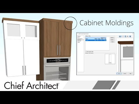Cabinet Moldings Tutorial in Home Designer Software thumbnail