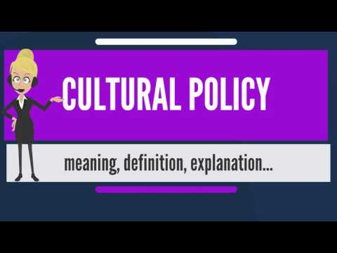 What is CULTURAL POLICY? What does CULTURAL POLICY mean? CULTURAL POLICY meaning & explanation