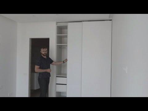 Обзор мебели: Встроенный шкаф купе, прихожая, подвесная тумба в гостиную. Шкафы Киев.