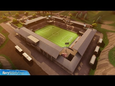 Fortnite Battle Royale - All 7 Football / Soccer Pitch Locations Guide (Score At Different Pitches)