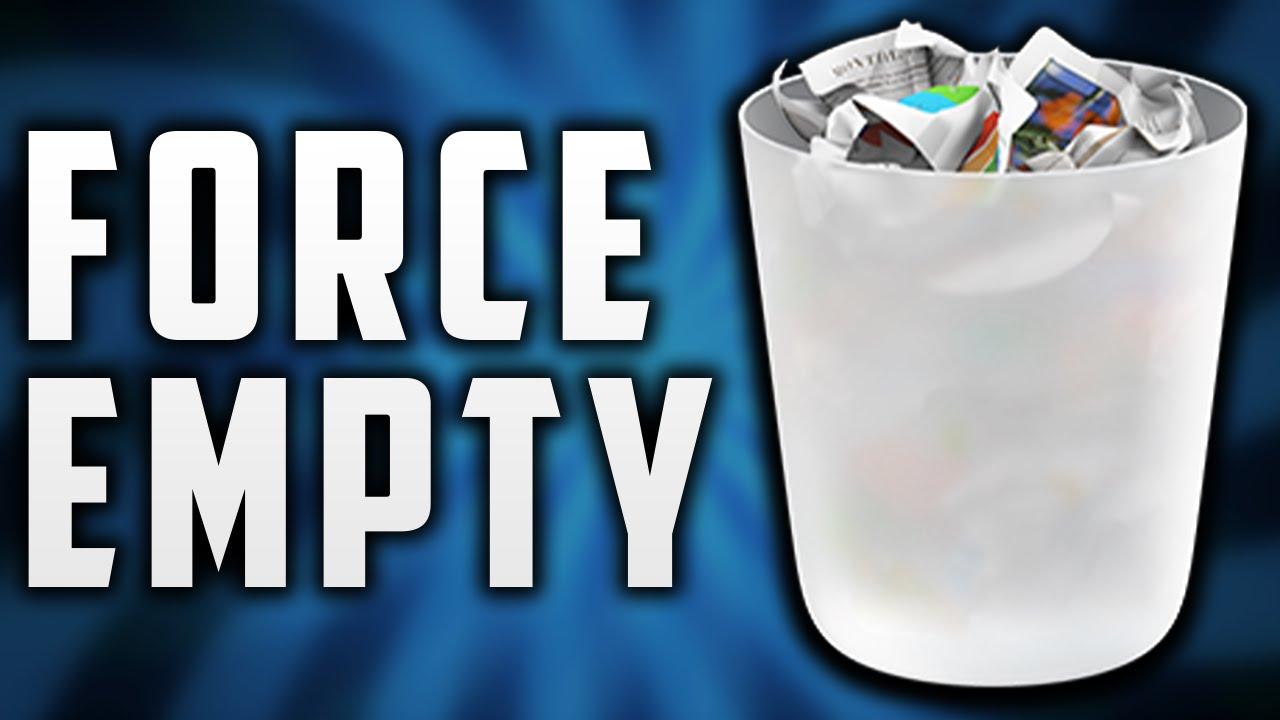osx empty trash