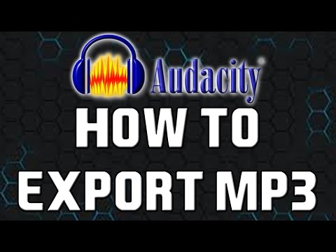 How To: Export to MP3 in Audacity